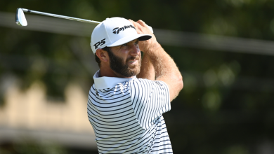 Photo of Dustin Johnson builds five-shot lead at Tour Championship