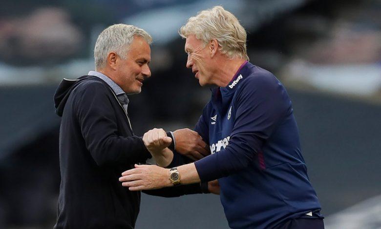 Tottenham's Jose Mourinho and West Ham's David Moyes