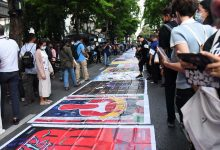 Photo of Thai protesters stage 'people's runway' in downtown Bangkok against princess' fashion brand