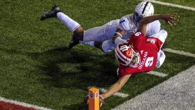 Photo of AP poll: Indiana ranked after Penn State upset, Ohio State at No. 3