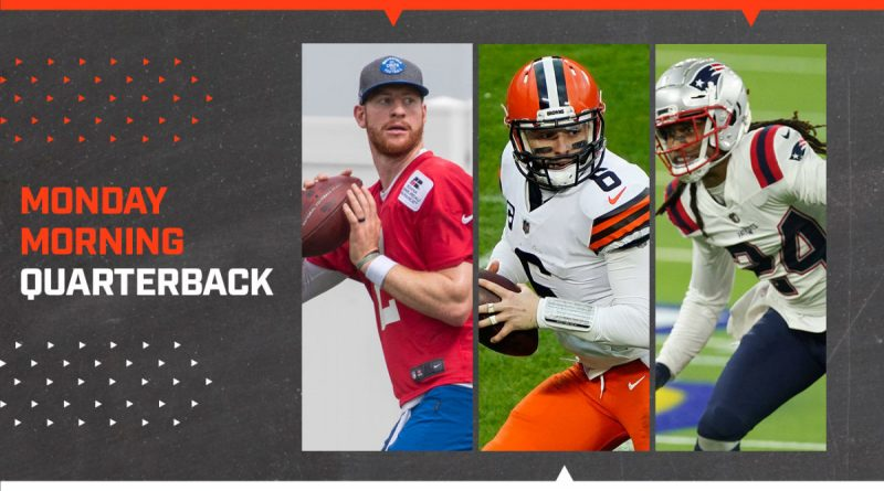 mmqb-carson-wentz-indianapolis-minicamp-story-lines-baker-mayfield-stephon-gilmore