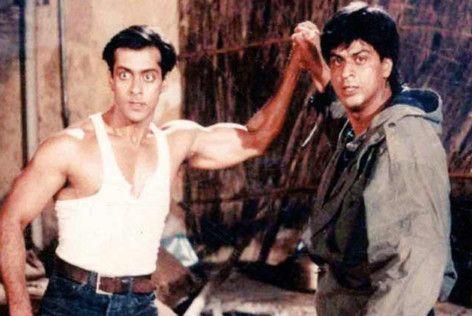 Salman Khan and Shah Rukh Khan in Karan Arjun (1995)-1584702005441
