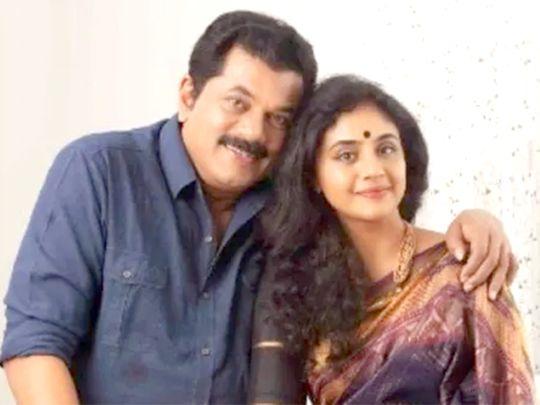 Mukesh with Methil Devika